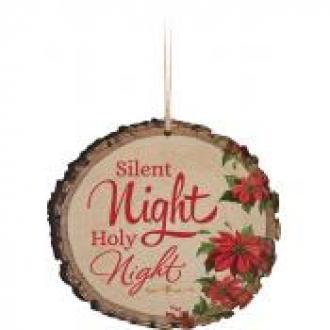 ORN 0034 Ornament - Silent Night Holy Night